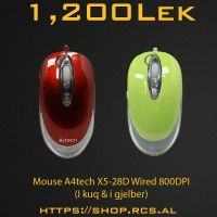 Mouse A4tech X5-28D Wired 800DPI RED/GREEN