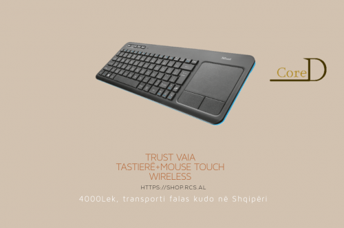 Trust Vaia Tastiere dhe Mouse Touch, Wireless